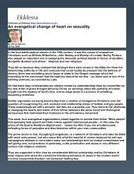 Sexuality, An Evangelical Change of Heart On - Philosophy and ...