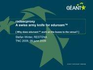radsecproxy A swiss army knife for eduroam™