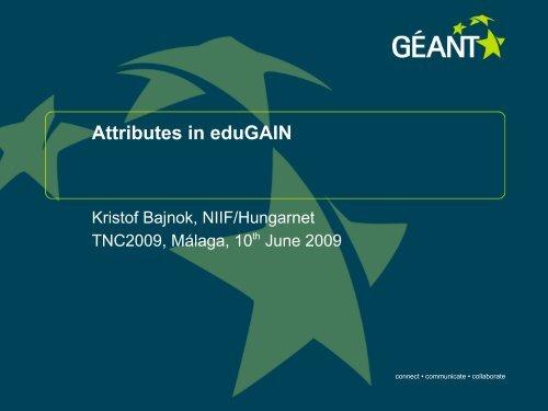Attributes in eduGAIN