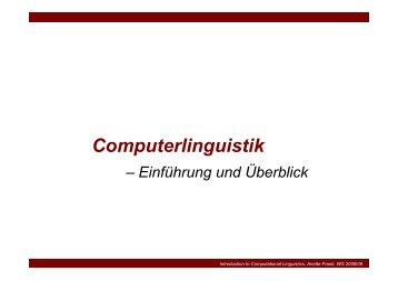 Computerlinguistik - NoName eV