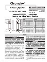 Circulation Heaters for Oil or Water Heating Installation Manual