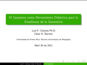 El Geoplano como Herramienta Didáctica para la Enseñanza de la ...