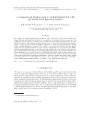 Development and Application of a Parallel Multigrid Solver for the ...