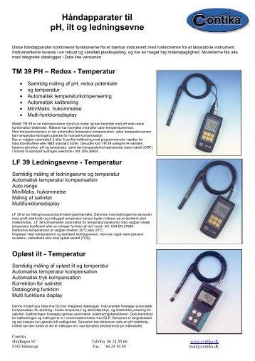 Håndapparater til pH, ilt og ledningsevne - Contika