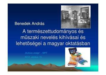 Dr. Benedek András - MELLearN