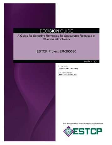 DECISION GUIDE - Strategic Environmental Research and ...