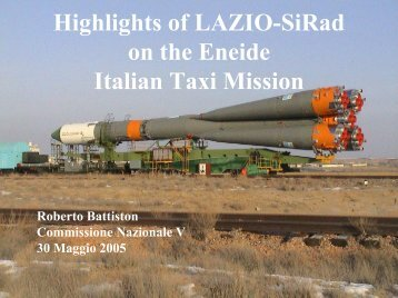 LAZIO-SiRad flight data - Infn