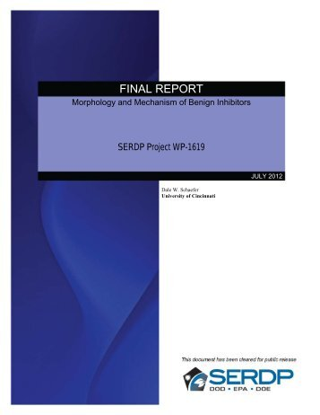 Final Report - Strategic Environmental Research and Development ...