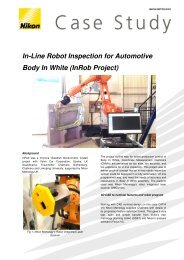 In-Line Robot Inspection for Automotive Body In ... - Nikon Metrology