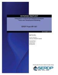 INTERIM REPORT - Strategic Environmental Research and ...
