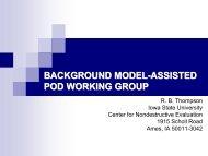 Thompson Presentation - Center for Nondestructive Evaluation ...