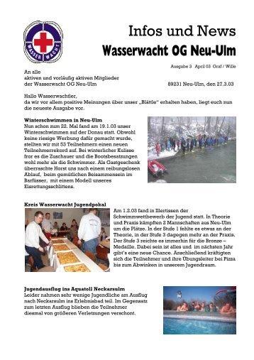 Infos und News 3 - Wasserwacht Ortsgruppe Neu-Ulm