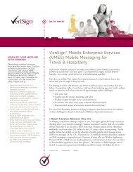 VeriSign® Mobile Enterprise Services (VMES) Mobile Messaging for ...