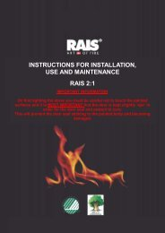 instructions for installation, use and maintenance rais 2:1 - Robeys Ltd