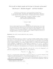 Potts model on infinite graphs and the limit of chromatic polynomials