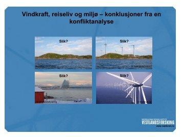 Vindkraft - konklusjonar - Vestlandsforsking