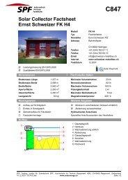 C847 Solar Collector Factsheet Ernst Schweizer FK H4 - Institut für ...