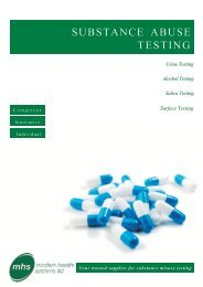 SUBSTANCE ABUSE TESTING - Modern Health Systems