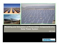 Modeling and Simulation of Photovoltaic Components of a ... - NPTI