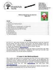1. Termine 2. Lesen in der Weihnachtszeit - Grundschule Hahle