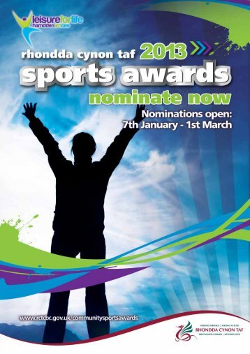 Community Sports Awards Application Form 2013 - Rhondda Cynon ...