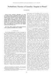 Probabilistic Theories of Causality: Singular or Plural? - ijmlc