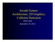 Arcade Games: Architecture, 2D Graphics, Collision Detection