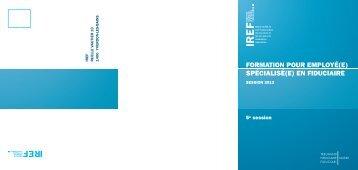 Brochure informative - IREF