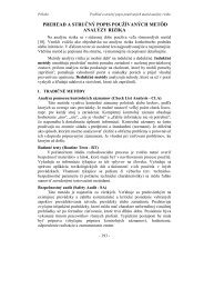 prehľad a stručný popis používaných metôd analýzy rizika