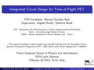 Integrated Circuit Design for Time-of-Flight PET - Universita