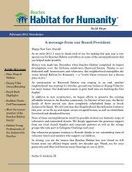 January Newsletter - Beaches Habitat for Humanity