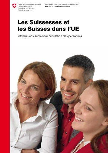 Les Suissesses et les Suisses dans l'UE