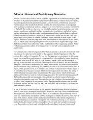 Editorial: Human and Evolutionary Genomics - David Pollock