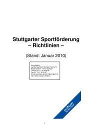Stuttgarter Sportförderung - Richtlinien Stand ... - Website Ralf Knoll