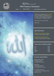 Basharaat-E-Ahmadiyya Newsletter December 2012 - The Lahore