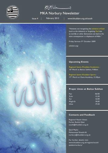 newsletter Norbury Feb 13.indd - Majlis Khuddamul Ahmadiyya UK ...