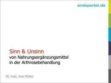 Minimal invasive Chirurgie in der Knieendoprothetik - endoportal.de