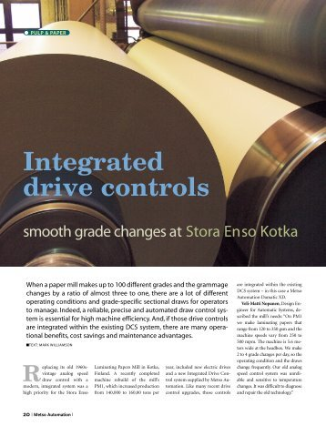 Integrated drive controls - Metso