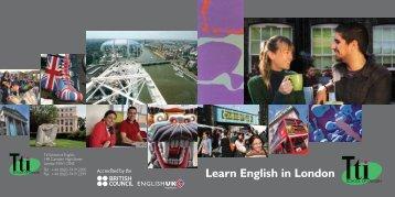 Learn English in London - Tti School of English