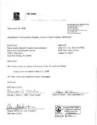 enia09-009 letter of credit with amendment - Pasco County ...