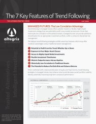 The 7 Key Features of Trend Following