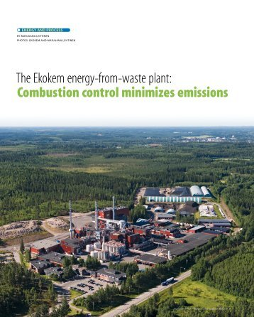The Ekokem energy-from-waste plant: Combustion control - Metso