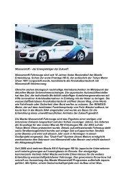 Wasserstoff – der Energieträger der Zukunft - Mazda Autohaus ...