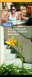 Graduate and Family Student Housing - UCLA - Housing