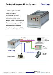SimStep - Single Axis Stepper System - Mclennan Servo Supplies Ltd.