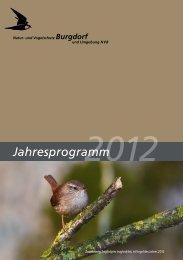 Jahresprogramm NVB 2012 - Natur- und Vogelschutz Burgdorf
