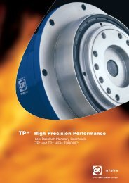 TP+ / TP+ HIGH TORQUE® - The Compact Precision