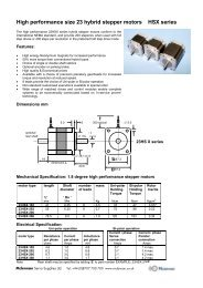 datasheet: pdf - Mclennan Servo Supplies Ltd.
