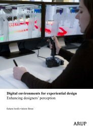 Digital environments for experiential design ... - Arup Foresight