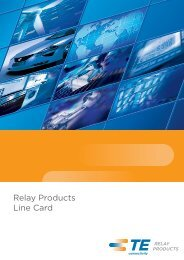 Product Line Card - TE Connectivity
